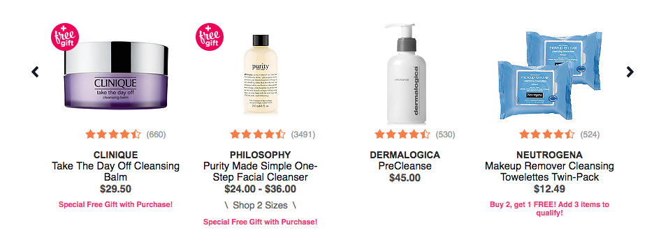 Dermalogica Neutrogena Philosophy Clinique